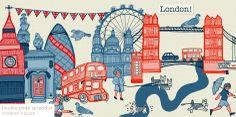 Double page spread form a children's book Digital Work - Emma Margaret Illustration