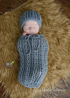 Ravelry: Double Helix Baby Cocoon or Swaddle Sack pattern by Crochet by Jennifer