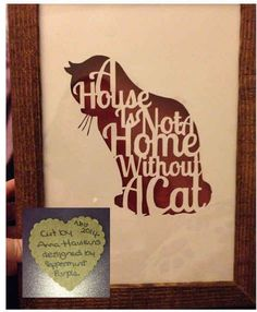 Commercial Use Papercut Template Pattern  - sell your papercuts! Cat Lover template, paper cut template stencil