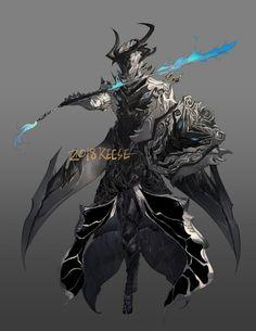 Fantasy Demon, Dream Fantasy, Fantasy Warrior, Anime Fantasy, Dark Fantasy, Oberon Warframe, Warframe Art, Character Concept, Character Art