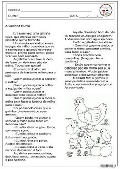 SOS PROFESSOR-ATIVIDADES: A Galinha Ruiva A30, Fathers Day, Sos Professor, Journal, Education, School, Gabriel, Image, Writing Activities