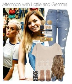 """""""Afternoon with Lottie and Gemma"""" by werethebestest ❤ liked on Polyvore featuring Topshop, MANGO, H by Hudson, Linda Farrow, Hervé Léger, Bobbi Brown Cosmetics, Sun Bum, M&S and NARS Cosmetics"""
