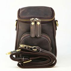Vintage Leather Belt Pouch for Men Waist Bags BELT BAGs Shoulder Bags – imessengerbags Leather Belt Pouch, Leather Belts, Leather Men, Leather Backpack, Backpack Bags, Fashion Backpack, Mini Messenger Bag, College Bags, Brown Backpacks
