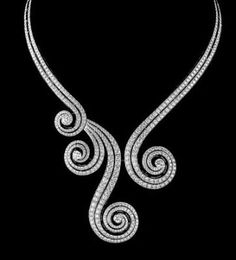 Necklace of white gold and brilliants by Cartier
