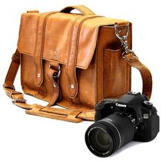 14 Manhattan Camera Bag  Serengeti Full Grain by CopperRiverBags, $158.50
