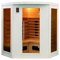 Elegancka, duża, narożna sauna infrared to relaks w Twoim domu w każdej chwili! Koloroterapia,...