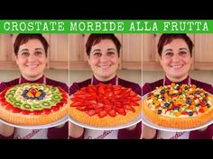 CROSTATA MORBIDA ALLA FRUTTA Ricetta Facile - FATTO IN CASA DA BENEDETTA - YouTube Summer Pie, Delicious Desserts, Yummy Food, E Recipe, Frugal, Almond Cakes, Sweet Cakes, Antipasto, Cakes And More