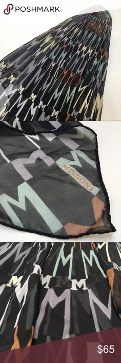 Missoni monogrammed silk scarf Gorgeous Italian silk scarf.  Signature logo. 34x34 inches.  New out the box. Missoni Accessories Scarves & Wraps