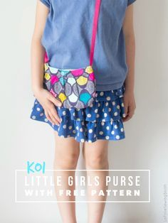 How to make a little Girls Purse, Free Pattern by @inesmelo