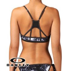 Oakley Halo Sport Bra Bikini Top - Black Print GOT IT IN BLUEEE!