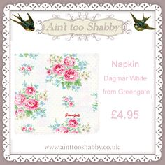 Fab Greengate items at www.ainttooshabby.co.uk