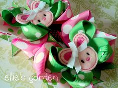 Embroidered Easter Bunny Boutique Style Piggy Tail by elliesgarden, $17.98