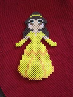 Belle from Disney's Beauty and the Beast perler beads by KcranceArt