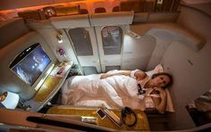 First class Emirates airline First Class Airline, Flying First Class, First Class Flights, Luxury Private Jets, Private Plane, Travel Goals, Travel Style, Travel Hacks, Emirates Airline