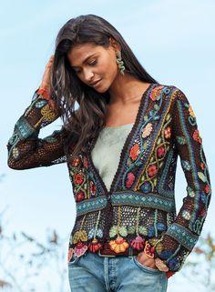 Oriel Pima Cotton Cardigan - Spring - Peruvian Connection Cotton Cardigan, Cardigan Sweaters, Cardigans, Conservative Outfits, Peruvian Connection, Cardigan Fashion, Bold Fashion, Crochet Fashion, Textiles