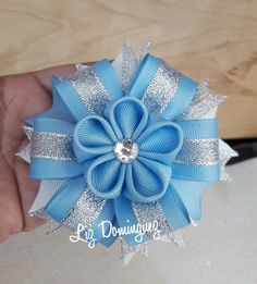 Diy Ribbon Flowers, Ribbon Art, Felt Flowers, Ribbon Bows, Ribbons Galore, Kids Hair Bows, Unicorn Headband, Gold Diy, Diy Hair Accessories
