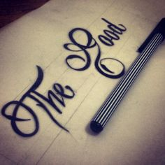 """""""Only the Good Die Young"""" typographic Piece unfinished  #typography #handdrawntype #pen #onlythegooddieyoung"""