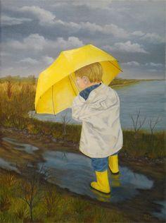 Rainy day- love those mud puddles...