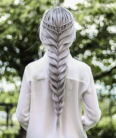 133 braid styles to try out to charm them all – page 18 Pretty Hairstyles, Braided Hairstyles, Mode Turban, Hair Academy, Viking Hair, Fantasy Hair, Creative Hairstyles, Braids For Long Hair, Silver Hair