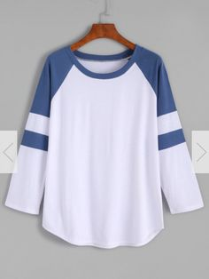 Color Block Raglan Sleeve T-shirt 11$