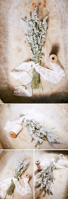 Who knew there was white lavender? Such a sweet and simple bouquet. | Designed by www.sbchic.com | Photo by www.lovenancyneil.com