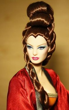 OOAK Fashion Doll, great hair.