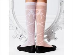 Ballet Beauty  Finally, the bright side of not-so-cute tube socks! We heart these sheer, preppy knee-highs—they're lovely worn with a skirt or a tutu. ($16 at Little Miss Matched)    FILED UNDER: