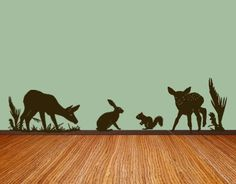 Forest theme Nursery Vinyl Wall Art Decal Free domestic shipping