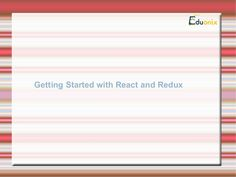 Getting started with #React and #Redux