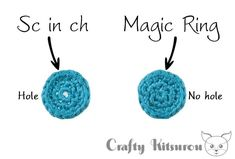 How to Crochet a Magic Ring (Left-Handed) – Crafty Kitsurou Magic Circle Crochet, Magic Ring Crochet, Crochet Circles, Hand Crochet, Crochet Hats, Crochet Basics, Crochet For Beginners, Crochet Stitches, Diy Crochet Projects