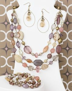 Desert Rose from Premier Designs new Spring Collection.  Soft pastels... goes with just about everything!