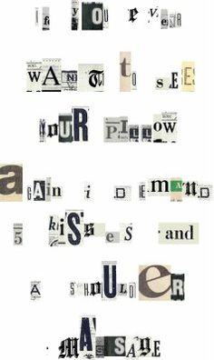 """send your spouse a """"ransom note""""  for an added touch of mystery and spontaneity (a great thing in marriage!)"""