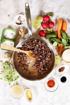 There's something about a bowl of food that feels more sustaining, more comforting, more sincere than a flat ol' plate of food. It's ample, piled, and without Complete Recipe, Dinner Sides, Fresh Vegetables, The Fresh, Lunch Recipes, Love Food, Main Dishes, Meals, Dinners