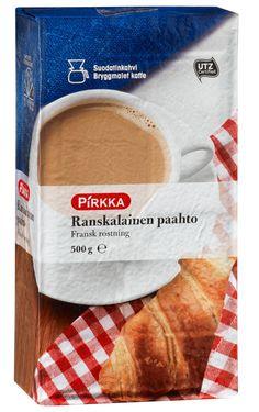 Pirkka Ranskalainen paahto on UTZ-sertifioidusta raakaaineesta tummaksi paahdettu suodatinkahvi. Siitä voi valmistaa voimakkaan kahvijuoman sellaisenaan nautittavaksi ja se sopii myös erinomaisesti maito-kahvijuomiin.