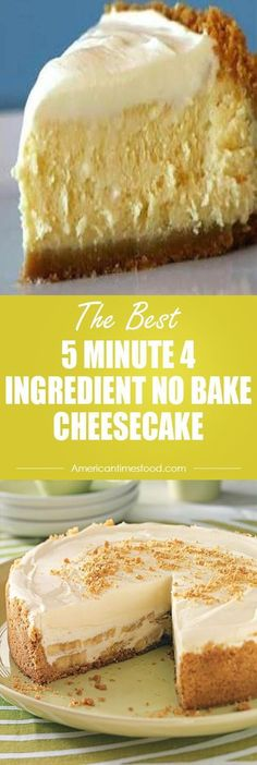 5 MINUTE 4 INGREDIENT NO BAKE CHEESECAKE Ingredients: 1 can of sweetened condensed milk 1 8 ounce tub of cool whip (whipping cream) cup of lemon or lime juice 1 8 ounce package of cream cheese. No Bake Desserts, Easy Desserts, Delicious Desserts, Dessert Recipes, Yummy Food, 5 Minute Desserts, Dessert Blog, Condensed Milk Desserts, Desserts