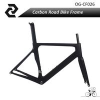 OG-EVKIN Carbon Disc Road Frame For Max 28C Tire Carbon Raod Bike Frame With D Brakes And Flat Mount Brakes 48/51/54/56/58cm