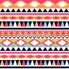 Seamless vector tribal texture. Tribal vector pattern. Colorful — Stock Illustration #39895211