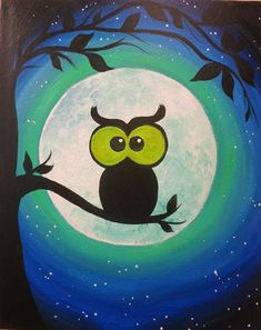 Get event details for Fri Oct 2015 - The Hootiest. Join the paint and sip party at this Ellicott City, MD studio. Halloween Painting, Halloween Art, Wine And Canvas, Autumn Painting, Forest Painting, Rock Painting Designs, Paint And Sip, Whimsical Art, Art Plastique