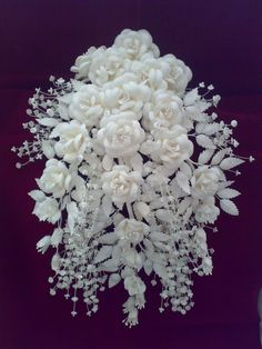 Gelin Çiçeği,Gelin Süsü,El Emeği,Sade Gücellik,Bridal Flower,Koza,El Emeği Göz Nuru Fabric Flowers, Paper Flowers, New Crafts, Coconut Flakes, Wedding Accessories, Bouquet, Happy Quotes, Sculpture, Silk
