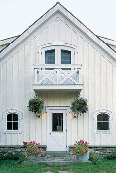 white barn house
