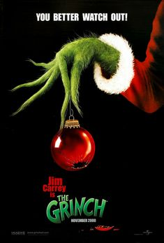 O Grinch (How the Grinch Stole Christmas, Ron Howard) Le Grinch, Grinch Hands, Grinch Stole Christmas, Christmas Wishes Words, Christmas Movie Quotes, Holiday Movies, Watch The Grinch, The Grinch Movie, Dr. Seuss