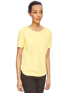 Textured Boxy Top | M&S