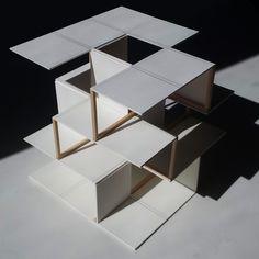 Tabak, Travis 1 - studio Miller and Munly - PintoPin Conceptual Model Architecture, Maquette Architecture, Architecture Model Making, Paper Architecture, Container Architecture, Concept Architecture, Interior Architecture, Cube Design, Study Design
