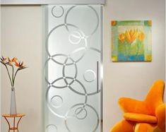 Living Room Partition Design, Pooja Room Door Design, Room Partition Designs, Frosted Glass Design, Frosted Glass Interior Doors, Glass Door Designs, Sliding Glass Barn Doors, Glass Doors, Etched Glass Door