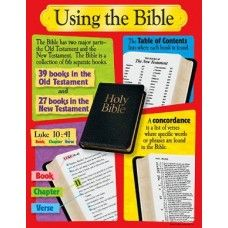 "Reproducibles, teaching tips, and information on back. 17"" x 22"" classroom size. Teach children how to use the Bible, say a prayer, and understand attributes of God. Charts feature clear, colorful illustrations, and are an easy way to enhance learning."