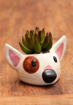 Vaso de Cerâmica Bull Terrier