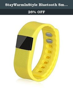StayWarmInStyle Bluetooth Smart Fitness - Tracking Bracelet, Yellow. Fashionably designed Leg Warmers Scarf Cuffs Boot Cuffs Scarves Leather Bracelets Boot socks Flat socks and many more are the styles from StayWarmInStyle These unique fashion accessories add style and glamour Jazz up your dull day with minimum efforts using these style products Dont let another day go by without finding that perfect accessory to match your outfit Features. Silicone construction. 049 OLED display…