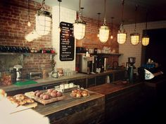 Rustic/industrial fit out at Kitsune Espresso Bar, Montreal.