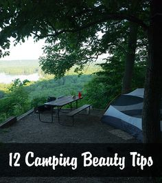 12 great camping beauty tips! Really useful! Hair, makeup, and cleaning tips for camping trips.