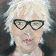 """'Jenny' by Viv Johnson. Pastel portrait 'Jenny' size 10"""" x12"""""""